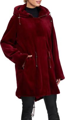 Gorski Sheared Mink Parka Coat