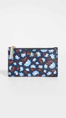 Kate Spade Reece Party Floral Small Slim Bifold Wallet