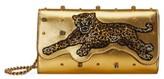 Gucci Broadway Metallic Leather Shoulder Bag - Yellow