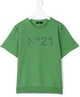 No21 Kids - studded logo T-shirt - kids - Cotton/Spandex/Elastane - 14 yrs