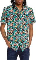 Chubbies The Ace Venturer Floral Short Sleeve Button-Down Shirt