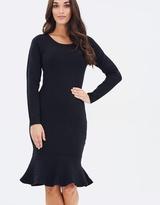 Forcast Keira Fluted Hem Knit Dress