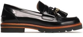 Stuart Weitzman Tasseled Patent-leather Loafers