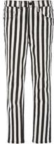 Nili Lotan Rigid High-Rise Striped Slim-Leg Jeans