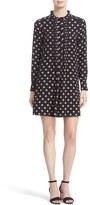 Kate Spade Ditzy Floral Print Silk Swing Dress