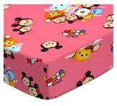 SheetWorld Fitted Pack N Play Sheet - Tsum Tsum Pink - Made In USA - 29.5 inches x 42 inches (74.9 cm x 106.7 cm)