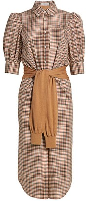 Derek Lam 10 Crosby Luis Plaid Shirtdress