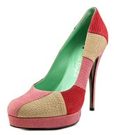 Ernesto Esposito 112ee1016 Open Toe Leather Platform Heel.