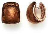 Roberto Coin 18K Rose Gold Martellato Huggie Earrings with Cognac Quartz