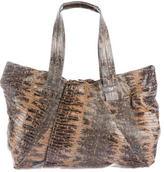 Diane von Furstenberg Embossed Leather Hobo