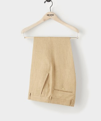 Todd Snyder SUTTON ITALIAN LINEN DRESS PANT IN Toasted Almond
