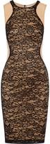 Bailey 44 Lace-paneled stretch-mesh dress