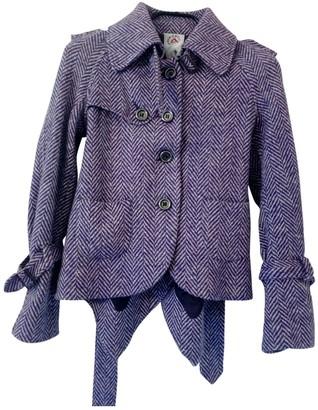 Cycle Purple Wool Jacket for Women