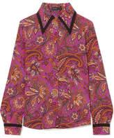 Etro Printed Silk Shirt - Purple
