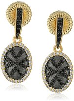 Freida Rothman Black Stone Geo Stripe Earrings