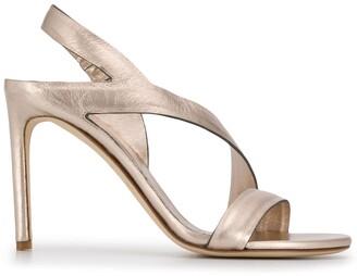 Del Carlo Cross Strap Sandals