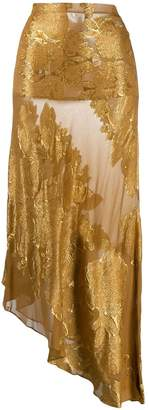 Romeo Gigli Pre-Owned 1990's floral brocade sheer skirt
