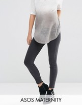 Asos Rivington Jegging In Washed Black With Under the Bump Waistband