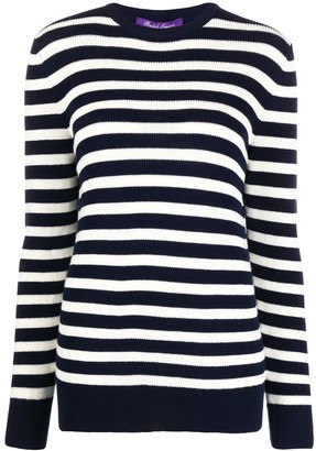 Ralph Lauren Collection Striped Ribbed Jumper