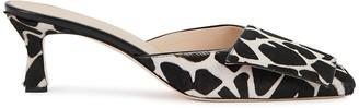 Wandler Isa 50 monochrome calf hair mules