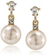 Carolee Pink Champagne Faux-Pearl Drop Earrings