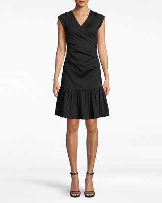 Nicole Miller Ponte Ruffled Beckett Dress