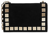 Tomasini Studded Suede Mini Shoulder Bag: Black