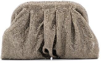 Benedetta Bruzziches Ruched Detail Studded Clutch Bag