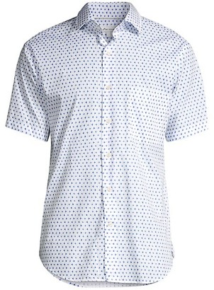 Peter Millar Catch Of The Day Geo-Print Shirt