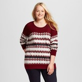 Women's Plus Size Pullover Sweater - Mossimo Supply Co.