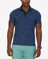 Nautica Men's Slim-Fit Leaf-Print Cotton Polo