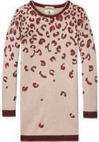 Scotch & Soda Knitted Leopard Print Dress