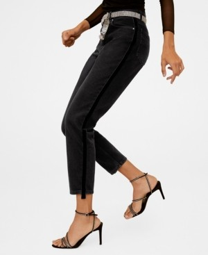 MANGO Mom-Fit Side Band Jeans