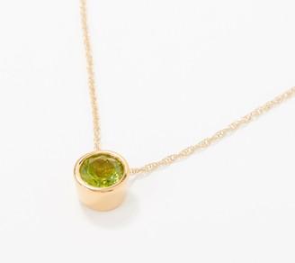 Bezel-Set Gemstone 14K Gold Plated Pendant 1.15-1.40 cttw