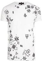 River Island MensWhite doodle print t-shirt