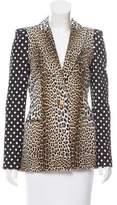 Ungaro Leopard & Polka Dot Peak-Lapel Blazer