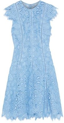 Lela Rose Corded Lace Mini Dress