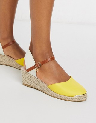 Miss KG lea heeled espadrilles in yellow