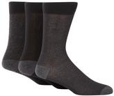 J By Jasper Conran Designer Pack Of Three Black Pindot Socks