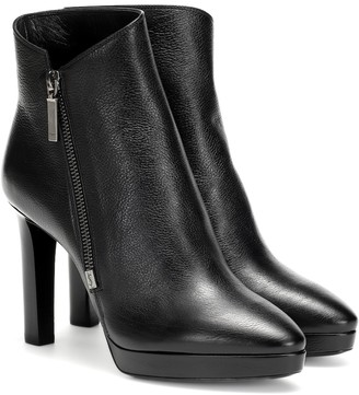 Saint Laurent Hall 105 leather ankle boots