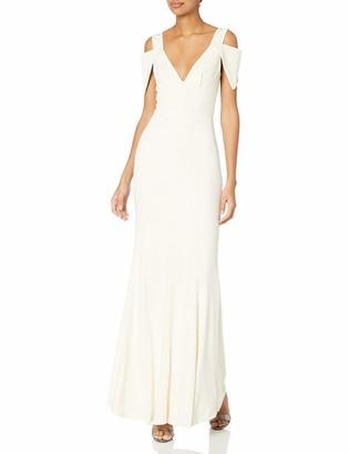 ABS by Allen Schwartz Women's Triangle Sleeve Deep V-Nk Gown