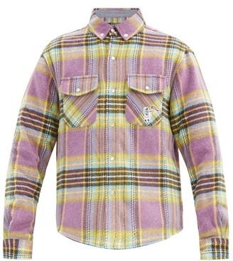 Billionaire Boys Club Checked Brushed Shirt - Purple