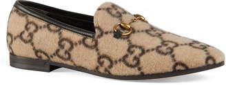 Gucci Jordaan Flat GG Flannel Loafers