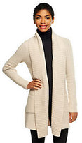 Isaac Mizrahi Live! 2-Ply Cashmere Ribbed Collar Sweater Coat
