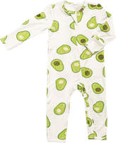 Angel Dear Avocado Print Zip Front Coverall, Size 0-18 Months