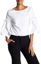 Karen Kane Ruffle Bell Sleeve Blouse