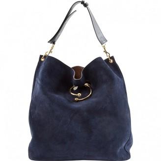 J.W.Anderson Navy Suede Handbags