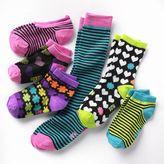 Pink Cookie 6-pk. striped socks - girls