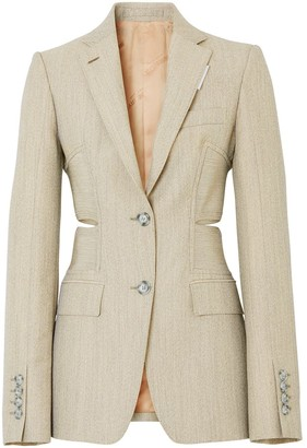Burberry Cut-Out Single-Breasted Blazer