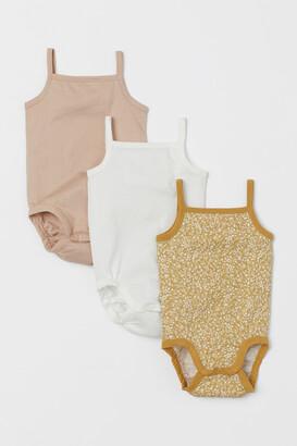 H&M 3-pack Sleeveless Bodysuits